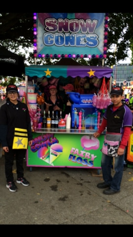 Snow Cone and fairy floss cart catering brisbane