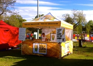 Hot corn on the cob stall Gold Coast catering brisbane