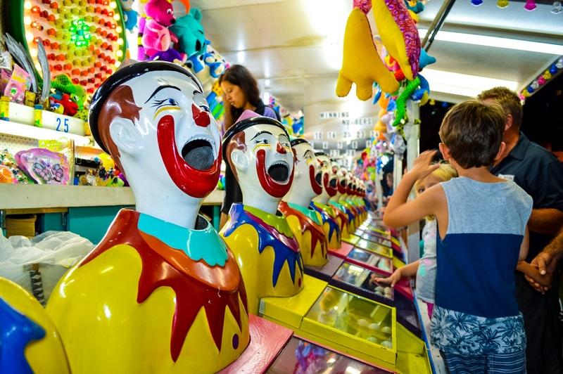 Clowns machines Brisbane Sideshows